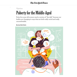 THE NEW YORK TIMES – 2018  Perimenopause